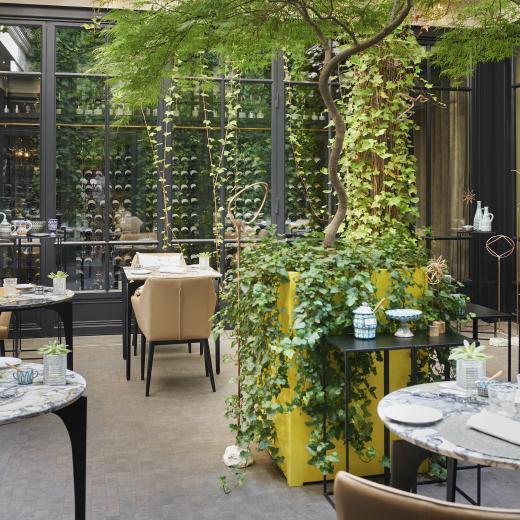 Le Burgundy Paris - Patio Restaurant Le Baudelaire